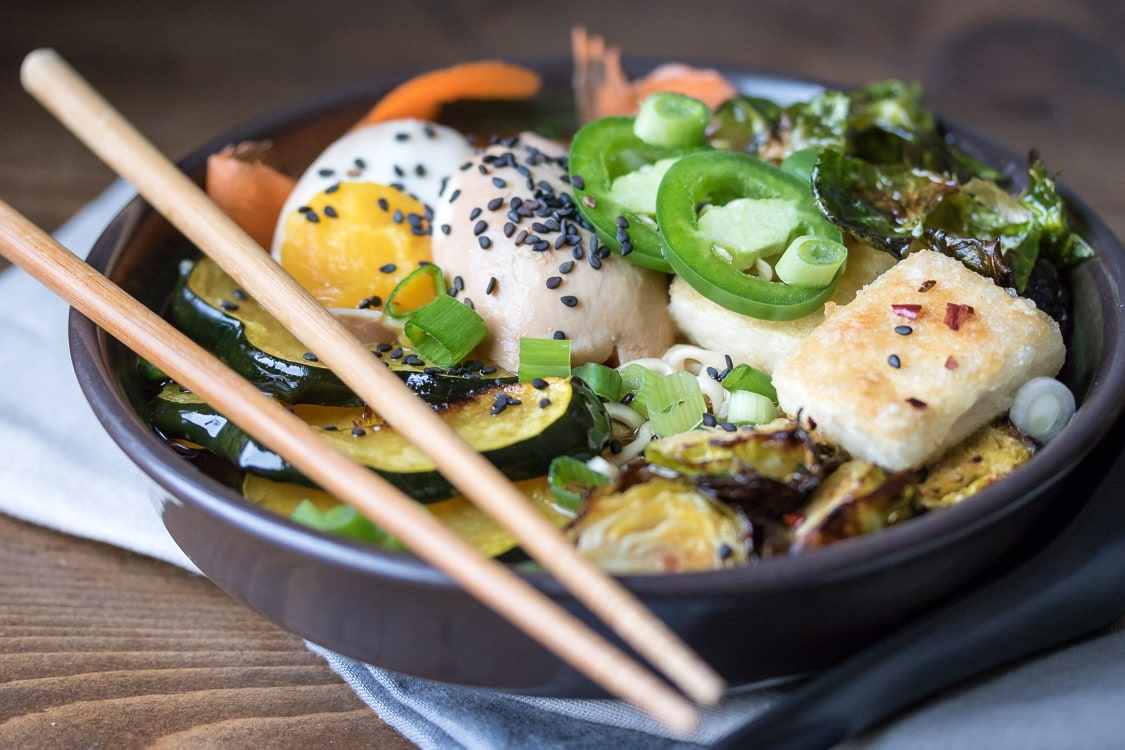 A hearty bowl of winter vegetable ramen is just the thing to warm you up!