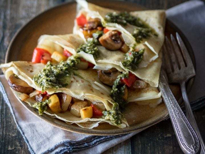 Savory Crepes With Chimichurri Sauce The Wanderlust Kitchen