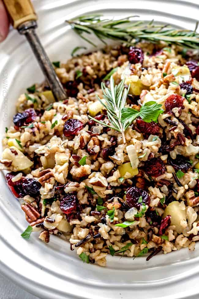 16 Sumptuous Side Dishes to Bring to Thanksgiving - Apple Cranberry Wild Rice Pilaf