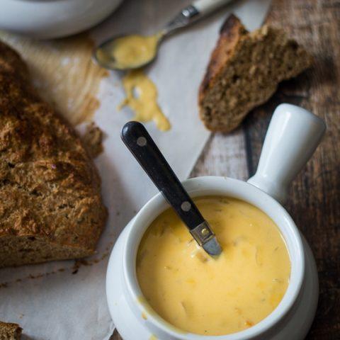 30 Minute German Beer Cheese Soup