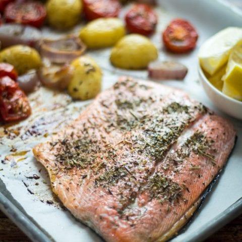 Roast Salmon Provencal