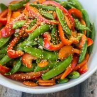 5 Minute Asian Snap Pea Salad