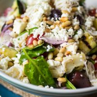 Mediterranean Pasta Salad, Lightened Up