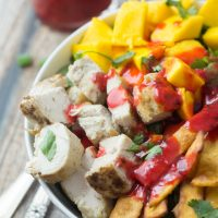 Mexican Chicken Salad with Chipotle-Raspberry Dressing