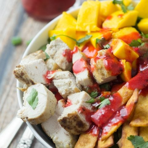 Mexican Chicken Salad with Chipotle Raspberry Dressing