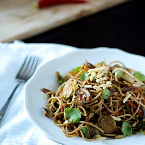 Gingered Vegetable and Noodle Stir Fry