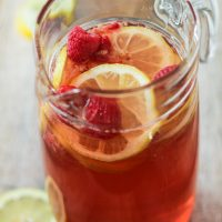 Raspberry-Lemon Blush Sangria Spritzers