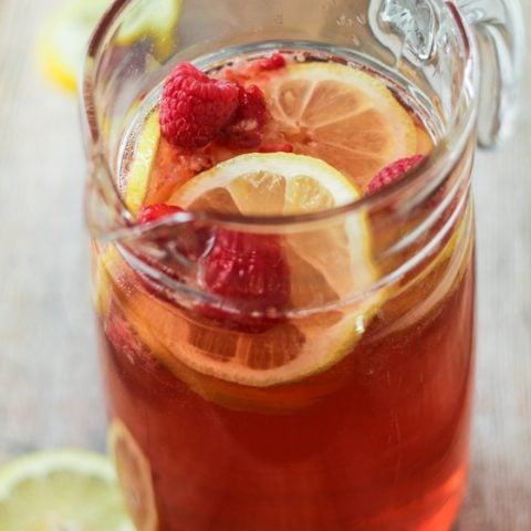 Raspberry Lemon Blush Sangria Spritzers