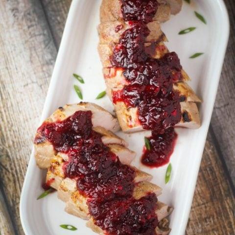 Pork Tenderloin with Chipotle Cranberry Sauce