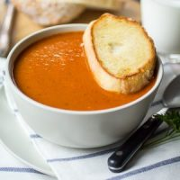 Bistro Style Blistered Red Pepper and Sun Dried Tomato Soup
