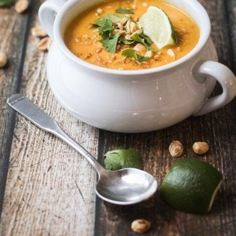 Thai Sweet Potato and Carrot Soup