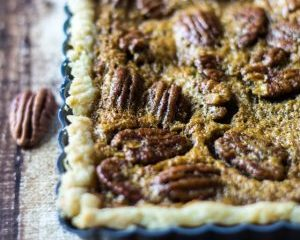 Easy Bourbon Pecan Tart The Wanderlust Kitchen