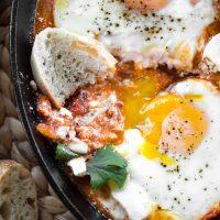 Harissa Shakshuka (North African Eggs in Purgatory)