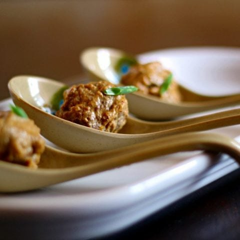 Thai Curry-Coconut Meatballs