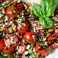 Tomato Basil Pearl Couscous Salad
