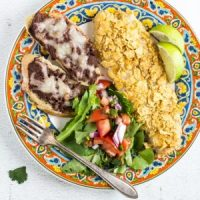 Oven Baked Tortilla-Crusted Tilapia