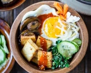 Vegetarian Korean Bibimbap Bowls The Wanderlust Kitchen