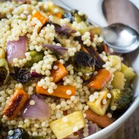Warm Israeli Couscous and Roasted Vegetable Salad