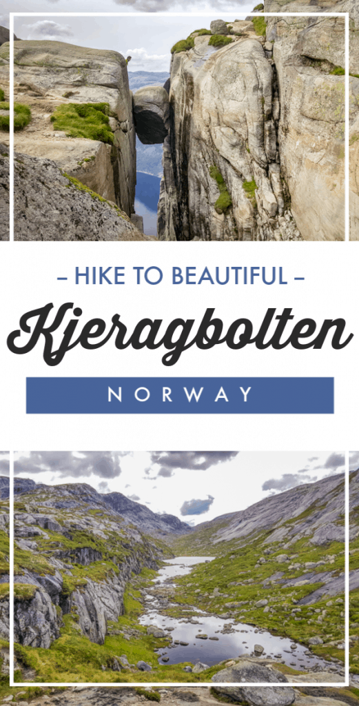 Get inspired to make the hike to Kjeragbolten, the famous Norwegian rock suspended between two cliffs over a 1,000-meter drop.