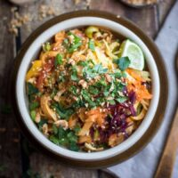 20 Minute Spicy Panang Peanut Noodles