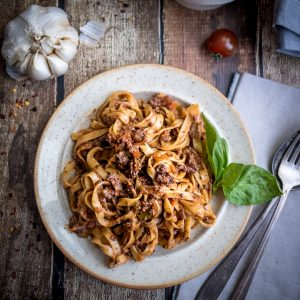Ultimate Vegan Bolognese Sauce - perfect for Date Night!