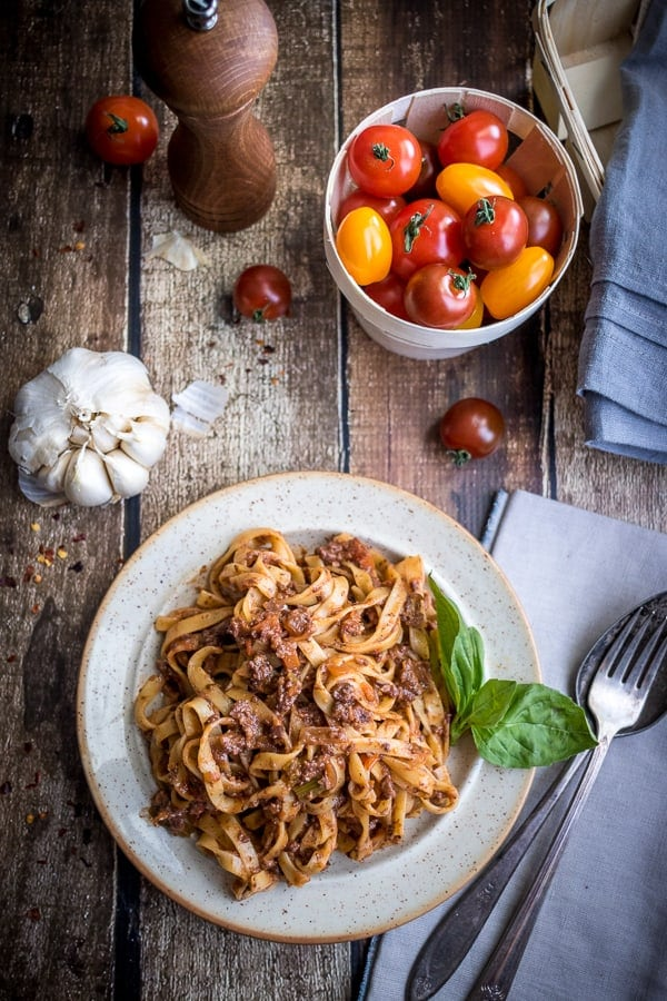 Best Ever Vegetarian Bolognese Sauce
