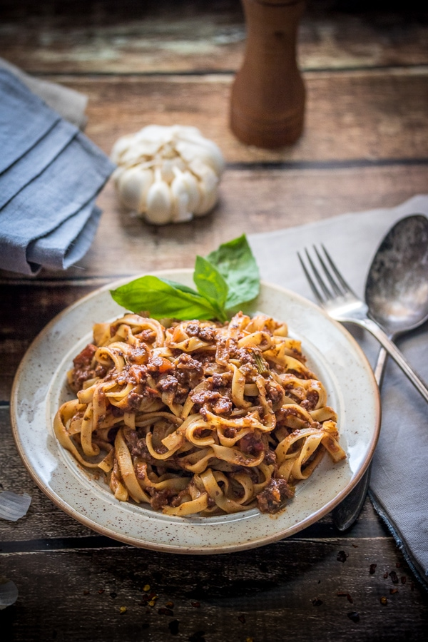 My very favorite vegan bolognese sauce recipe - just trust me, MAKE THIS!