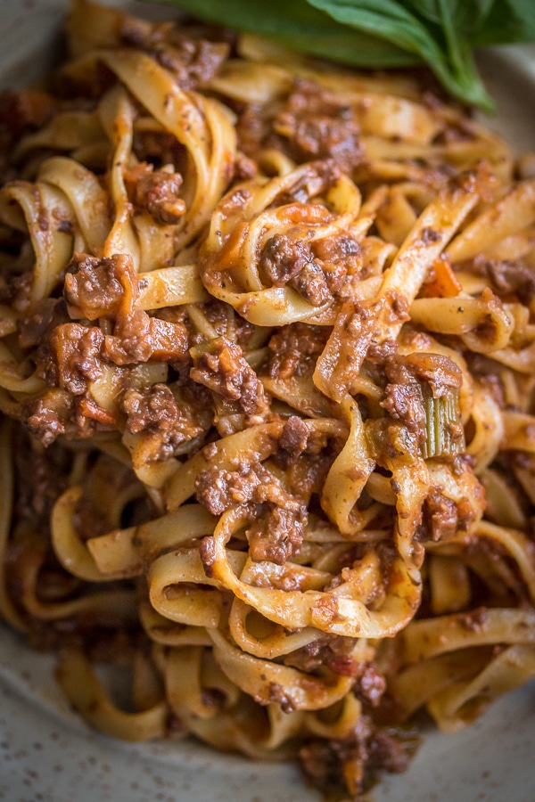 Yes, please! Truly the best EVER Vegan Pasta Bolognese Recipe