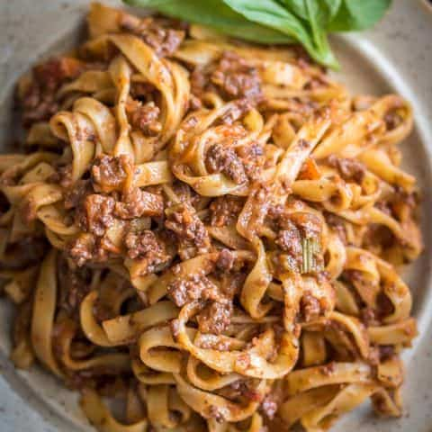 This vegan bolognese sauce is perfect for Date Night!
