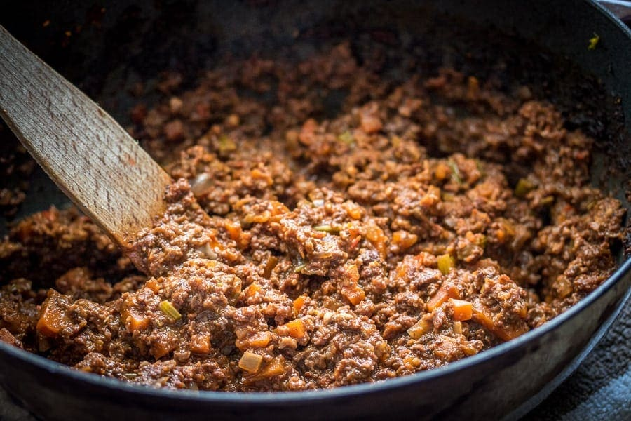 Best Vegetarian Bolognese Sauce recipe. Once you try it you'll agree: it hits the spot every time!
