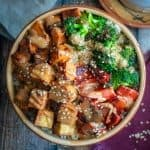 Tempeh Buddha Bowls with Miso-Almond Sauce
