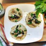 Poblano Chicken Tacos with Pipicha
