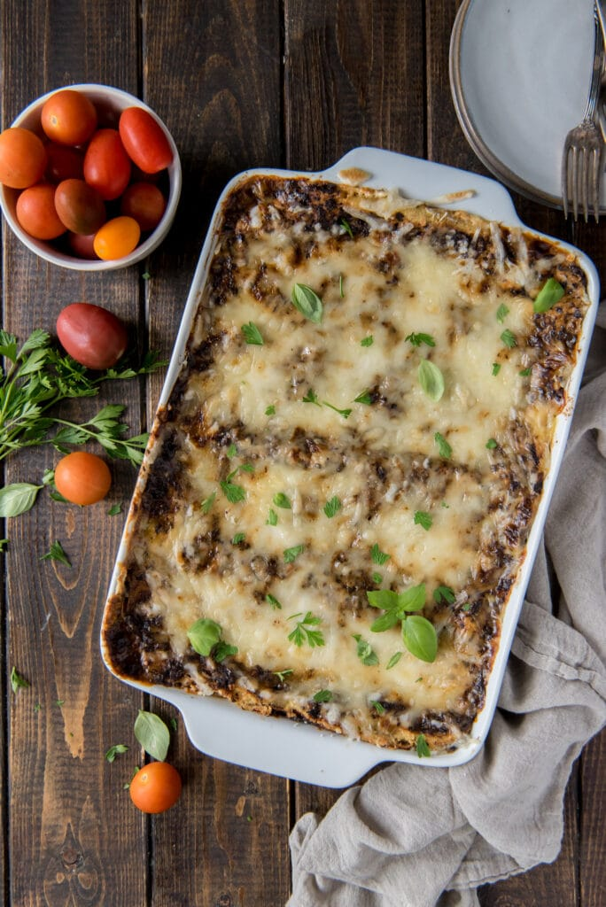 Here is a delicious Vegan Lasagna recipe that uses my top rated Ultimate Vegan Bolognese Sauce for a savory meatless lasagna.