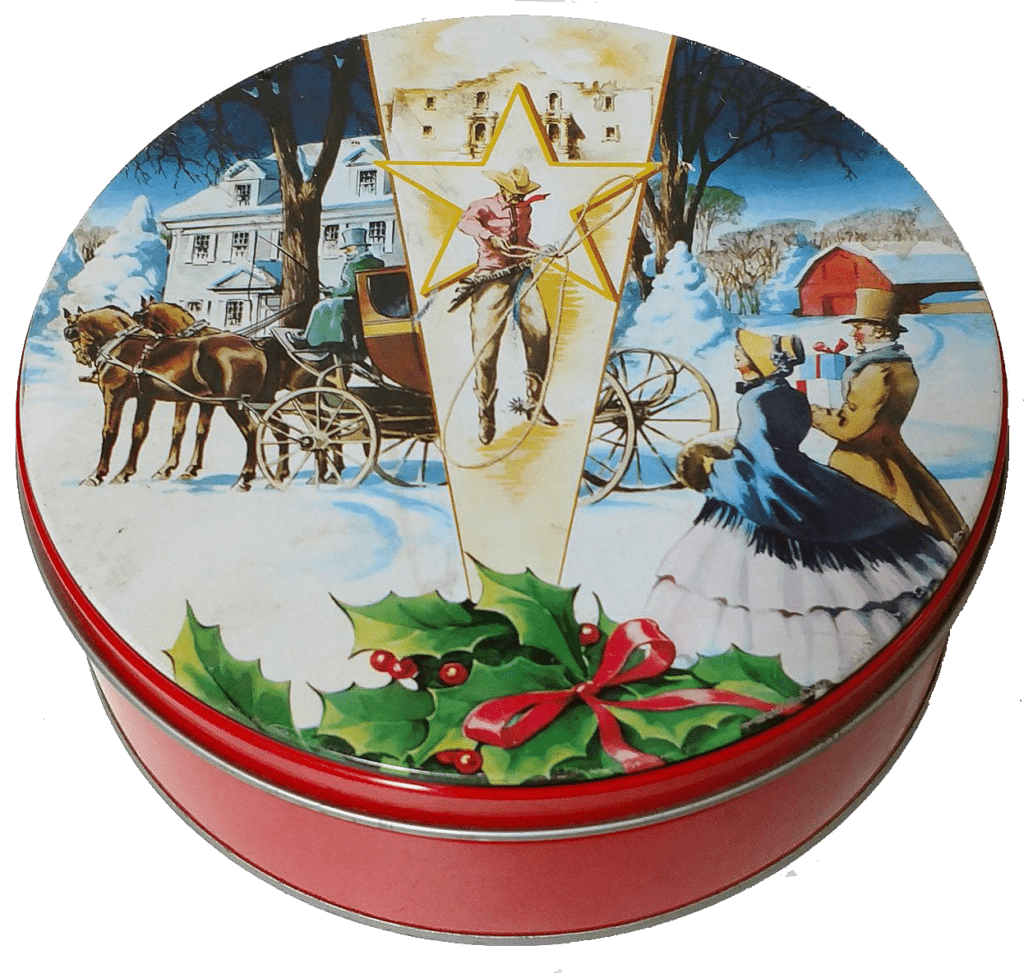 Holiday Tin for Storing Peppernuts. Peppernuts are traditional German cookies (Pfeffernüsse Cookies) that are small, crunchy, slightly sweet and addictive cookies!