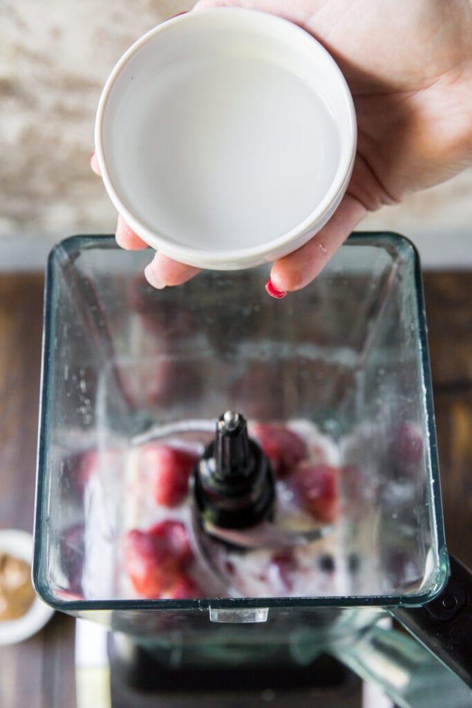Recipe for a fruit smoothie