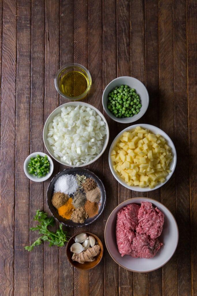 ingredients in samosas