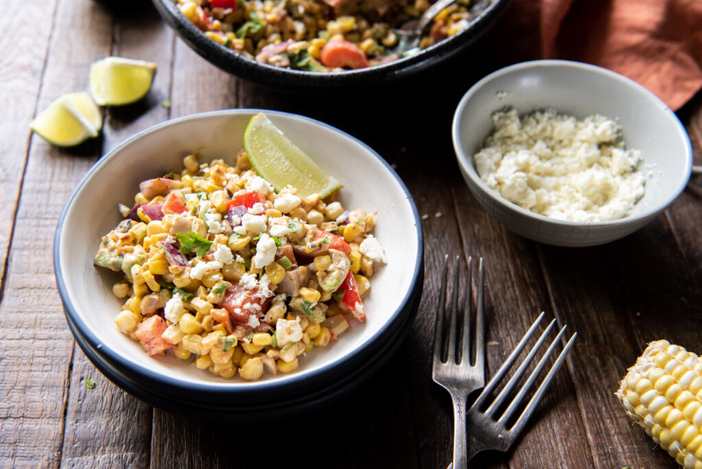 This Mexican street corn off the cob recipe is so good!