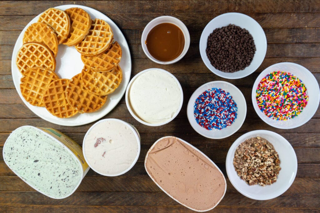 How To Make Waffle Ice Cream Sandwiches