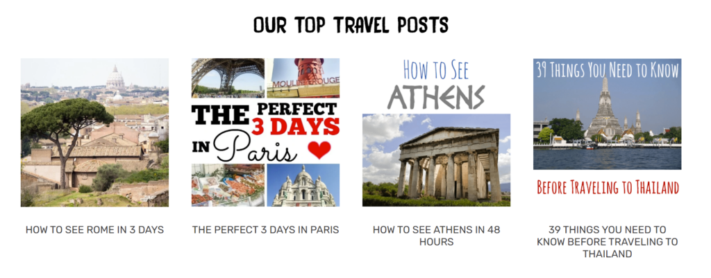 Our Top Travel Posts