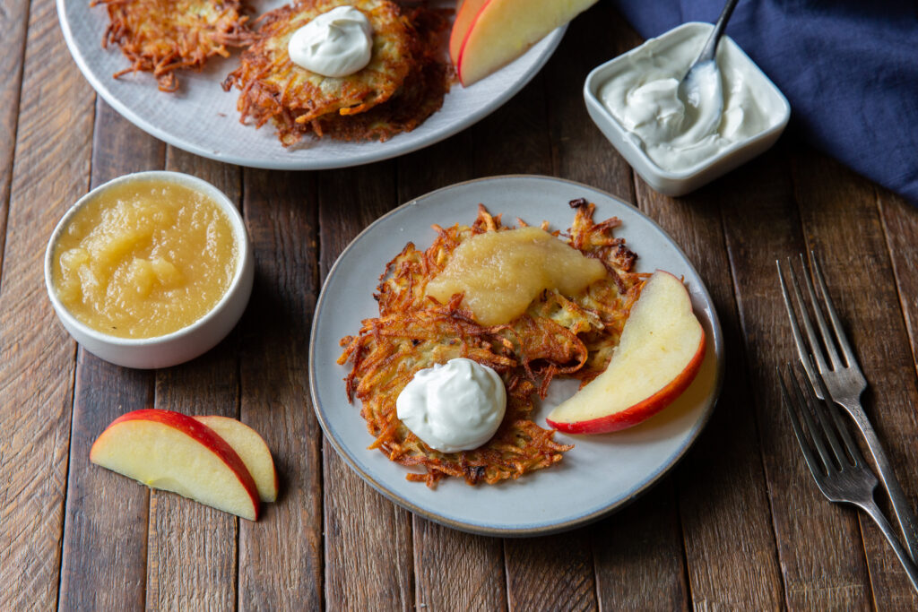 Looking for potatoes pancake? This delicious German Potato Pancake recipe, also known as Kartoffelpuffer, is a savory and crispy side dish that can be served with any meal!