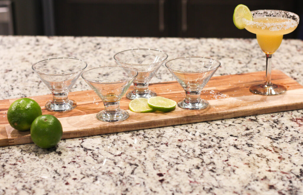 Looking for an Italian Margarita drink? This classic Italian Margarita Recipe combines tequila, amaretto liquor, lemon and lime juice for a perfect tangy drink!