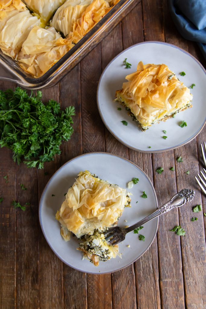 Wanting spinach pies recipe? This Spanakopita recipe is a combination of the traditional Greek flavors of Spinach and Feta to make a delicious Greek Spinach Pie!