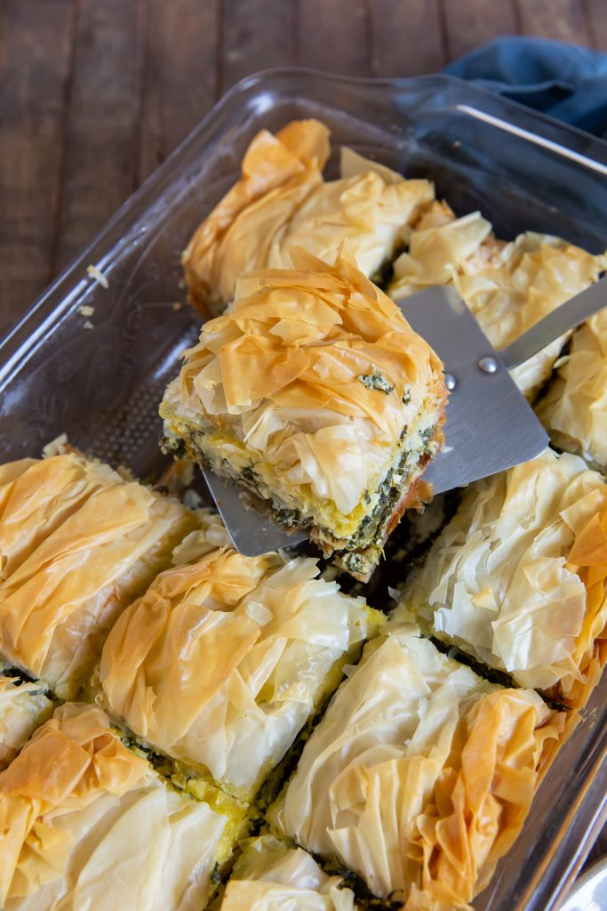 This Spanakopita recipe is a combination of the traditional Greek flavors of Spinach and Feta to make a delicious Greek Spinach Pie!