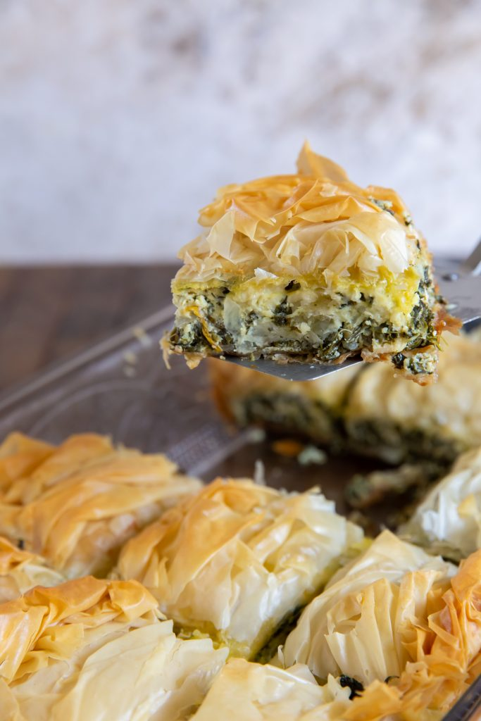 This Spanakopita casserole recipe is a combination of the traditional Greek flavors of Spinach and Feta to make a delicious Greek Spinach Pie!